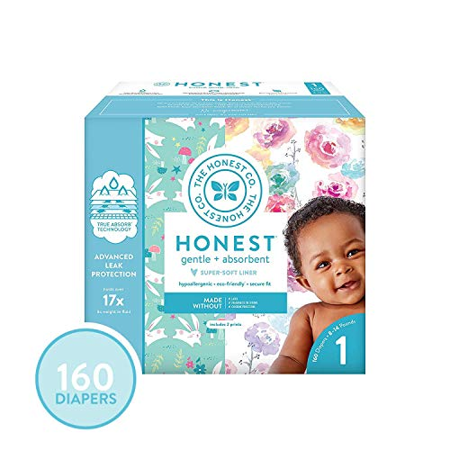 The Honest Company Super Club Box Diapers with TrueAbsorb Technology, Rose...