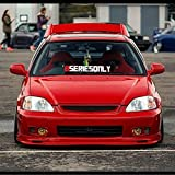 Gy Vinyl Arts,BSERIESONLY,Windshield,Decal,Car,Sticker,Banner,Graphics,JDM for Honda,Acura,Civic,Integra (3.2'x 33')