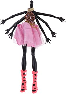 Prettyia Movable 22 Joints Black Spider Shape Nude Body for Monster High Doll Mattel Toy with Clothes
