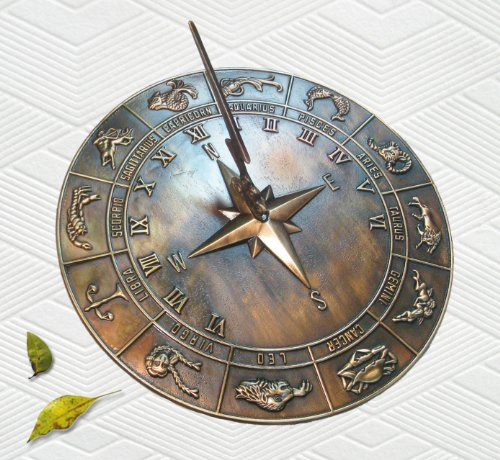 "Brass Constellations Sundial - 12"" inches wide"