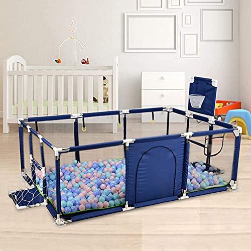 PEALOV Box per Bambini con Pallacanestro,Baby Maglia Recinzione per al Chiuso All'aperto Infant Toddler Use, Baby Box Play Yard,Centro attività per Bambini con Gate(Senza Palle)