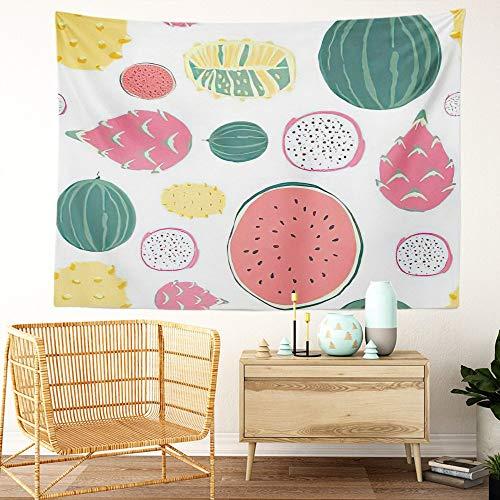Y·JIANG Tapiz de aguacate, frutas y verduras vegetarianas alimentos veganos para el hogar, tapiz grande decorativo, manta ancha para colgar en la pared para sala de estar, dormitorio, 80 x 60 pulgadas