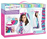 Make It Real - Unicorn Hoodie Blanket. Wearable Unicorn Hooded Blanket Arts and Crafts Kit for Girls. DIY Kit Guides Tweens to Create Their Own Unicorn Hoodie Fleece Knotted Blanket