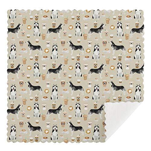 Lindo diseño de perros perros perros perros perros perros - paños de limpieza reutilizables, lavables a máquina, paños de limpieza absorbentes, paños de limpieza absorbentes para cocina 30 x 30 cm