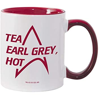 Star Trek: The Next Generation Tea Earl Grey Hot 11 oz Two-Tone Mug