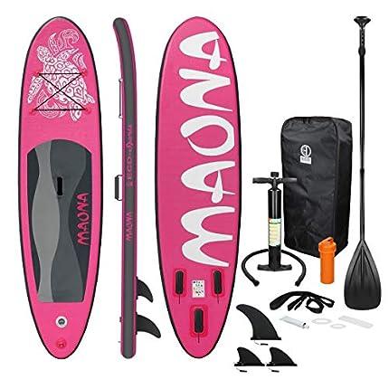 ECD Germany Tabla Hinchable Maona Paddle Surf Rosa
