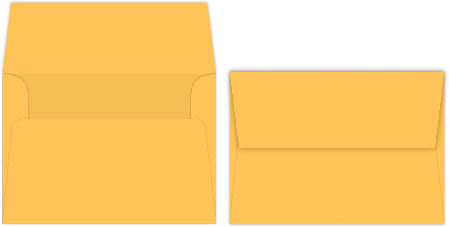 New Shipping Free Ultra Orange A7 Bright Color Envelopes - x 7 5 4 Inches Limited time cheap sale 1