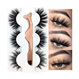 3 Styles False Eyelashes Synthetic Fiber Material 3D Mink Lashes 100% Handmade Natural