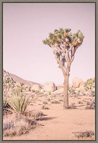 Framed Canvas Wall Art Print | Home Wall Decor Canvas Art | Joshua Tree III Blush by Elizabeth Urquhart | Modern Decor | Stretched Canvas Prints 16.00 x 23.25 in.
