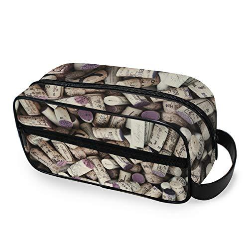 Bolsa de maquillaje de viaje Almacenamiento Botella de vino Tapones de corcho Herramientas Estuche de tren cosmético Cartera Bolsa de aseo portátil