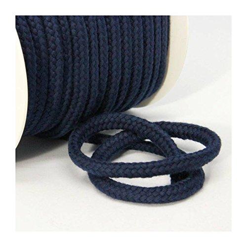 Baumwollkordel 10 mm, marineblau, 1m, 100% Baumwolle