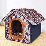 L.TSA Cama para Mascotas Perrera Cálida Arena para Gatos Casa para Perros para Perros pequeños medianos Perreras de Viaje Productos para Mascotas (Color: Camuflaje, Tamaño: XXL)
