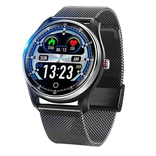 JXFF Reloj Inteligente De Los Hombres PPG + ECG IP68 IP68 Reloj De Ritmo Cardíaco A Prueba De Agua A Prueba De Agua Presión Arterial Deportes Smartwatch para Android iOS PK N58 Q9,D