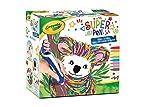 CRAYOLA - Super Pen Koala 25-0391 - Cera para derretir y crear diseños en relieve, color plateado y azul