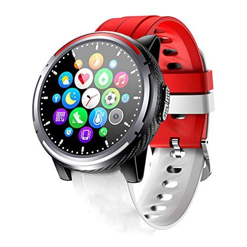 AEF Smartwatch, Reloj Inteligente IP68 con Pulsómetro, 7 Modos de Deportes y GPS, Monitor de Sueño Caloría 1.28 Inch Pantalla Táctil Smartwatch para Mujer y Hombre,Rojo