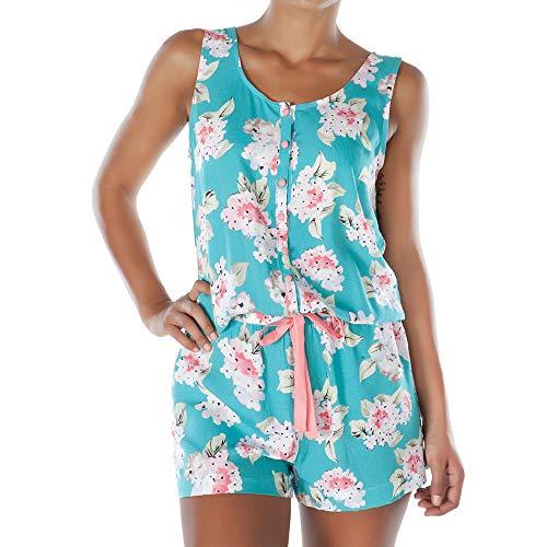 Cherry Blossom vrouwen Bloemen Print Onesie Pyjama Jumpsuit