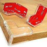DEASANA® Protections Coins - Coussin Large pour Protection Maximale de Bébé - Protège-Coin de Table Transparent avec de l'Adhésif Double-Face 3M VHB - Pour Équiper Toute la Maison - 14/28 Pièces