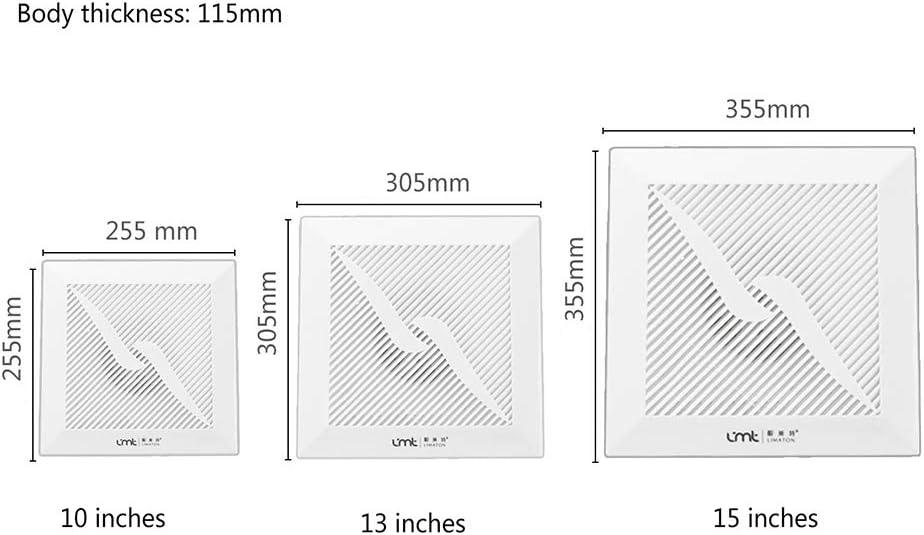 ba/ño dormitorio Cocina Ba/ño extractora Fuerte de bajo ruido alta potencia del techo de ventilaci/ón del ventilador Apto para sal/ón cocina ZDDAB. Ventilador de techo de ventilaci/ón de escape