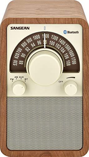 Sangean WR-15 Retro Radio mit FM und AM - Vintage Design - Bluetooth Streaming - Einzigartiges Holzgehäuse - Walnuss