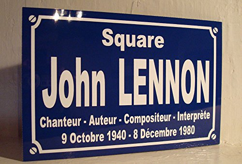 Noir & Mat Sérigraphie John-Lennon The Beatles Plaque de Rue création Collector Edition limitée Cadeau Original