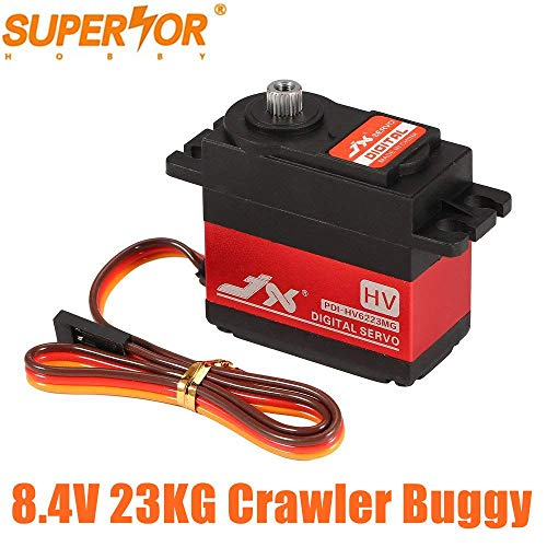 JX PDI-HV6223MG 8.4V 23KG Large Torque Metal Gear Digital Servo for 1/8 1/10 RC Car TRAXXAS RC4WD TRX-4 SCX10 D90 Crawler Buggy Airplane DC5821LV