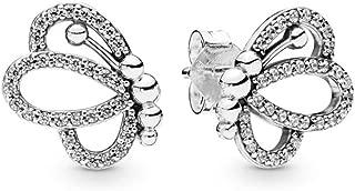 Butterfly Outlines 925 Sterling Silver Studs Earrings - 297912CZ