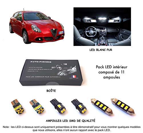 Pack FULL LED intérieur pour Giulietta (Kit ampoules blanc pur)