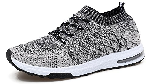 WELMEE Men's Knit Breathable Comfortable Sneakers Lightweight Athletic Tennis...