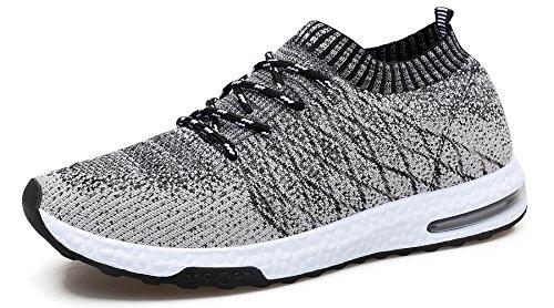 WELMEE Men's Knit Breathable Comfortable Sneakers Lightweight Athletic Tennis...