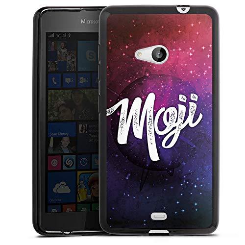 DeinDesign Silikon Hülle kompatibel mit Microsoft Lumia 535 Dual SIM Hülle schwarz Handyhülle Moji Motorrad YouTube