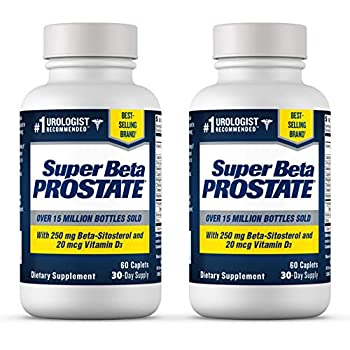 Super Beta Prostate Supplement for Men - Reduce Nightime Bathroom Trips Promote Sleep Better Bladder Emptying & Healthy Prostate Urologist Recommended with Beta Sitosterol  120ct 2 Bottle