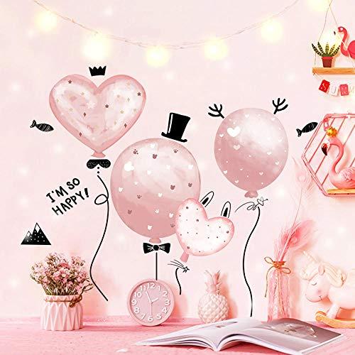 Decals prinses kamer decoratie roze behang zelfklevende slaapkamer meisje verhuur behang sticker Extra large 3. Sen Balloon