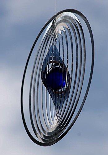A2003 – steel4you hochwertiges 3D Windspiel aus Edelstahl mit Glasperle – Kreis 15cm x 15cm – made in Germany - 4