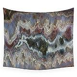 KWYAN arazzo Cady Mountain Banded Agate Wall Tapestry Cover Asciugamano da Spiaggia Gettare Coperta PIC-nic Yoga Mat Tessuti per la Decorazione domestica-51x59inch