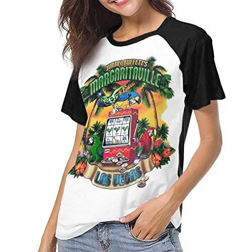 Ovilsm Damen Jimmy Buffett Women Baseball Short Sleeve Round Neck T Shirt