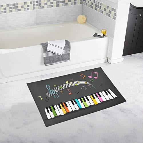YXUAOQ Teclado música Teclas Colores Notas Alfombra