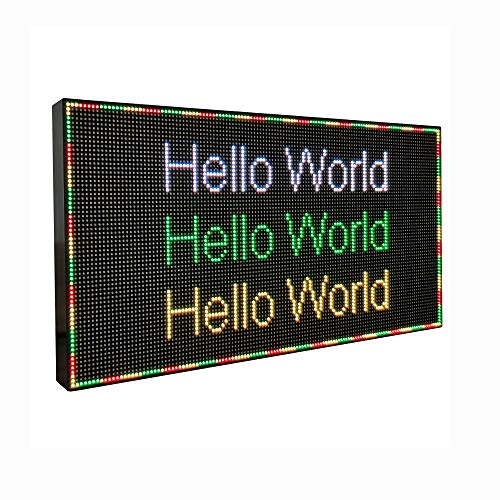 TACLKA Scrolling led Display Full Color LED Message Sign Word Led Display Programmable Led Banner Scrolling led Display for Advertising (12.7 x 0.8 x 6.4 inches)