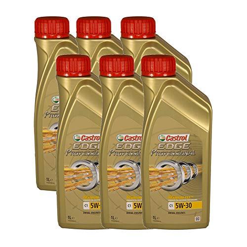 Castrol EDGE Professional C1 5W30 - Olio per Auto, Lubrificante Titanium 5W-30 6 Litro