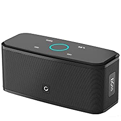Bluetooth Speakers, DOSS SoundBox Touch Wireless Bluetooth V4.0 Portable Speaker with HD Sound and Bass, 12H Playtime, Built-in Mic, Portable Wireless Speaker Compatible with Phone, Tablet, TV-Black