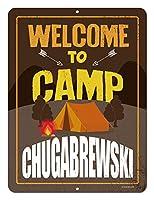 Hypothesis 20×30cm 看板 メタルサイン 面白いキャンプの兆候, Welcome to Camp Chugabrewski ウォールアート バー カフェ 壁の装飾 ヴィンテージ風 メタルプレート ブリキ