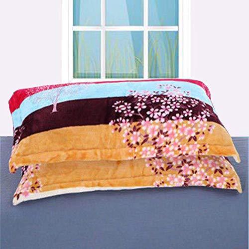 KEPOHK 2 uds.Funda de Almohada para Dormir, 48 cm * 74 cm de Franela Nuevo patrón Funda de Almohada Simple para Fiesta, Hotel, Textiles para el hogar, 48x74 cm 6