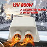 MASO 12V 800W Car Heater Kit, High Power 5 Second Fast Heating Defrost for Automobile Windscreen Winter