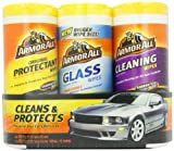 Armor All 44983 Car Wash and Cleaner Kit (4 Items) - 2pc Glass Wipes & Protectant with Wax & Wash Soap and Tire Shine Foam, 13703C