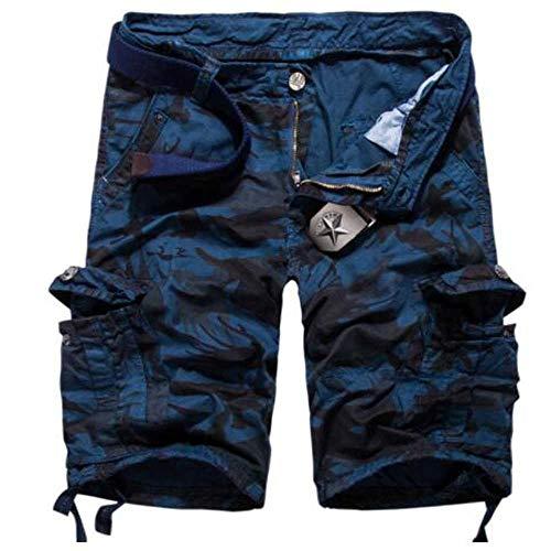 MCSZG Pantaloncini Casual da Uomo Corti Camouflage Camo Homme Cargo Uomo Allentato Lavoro Uomo Pantaloni Corti da Uomo Bermuda da Uomo