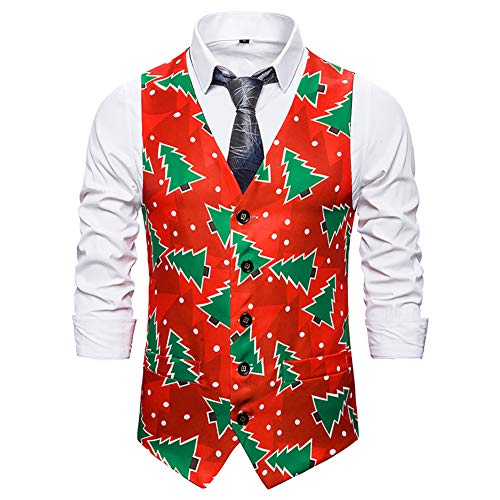 Story of life Kerstboom vest herenmode vest disco dans tops kostuum feest clubwear podium gilet