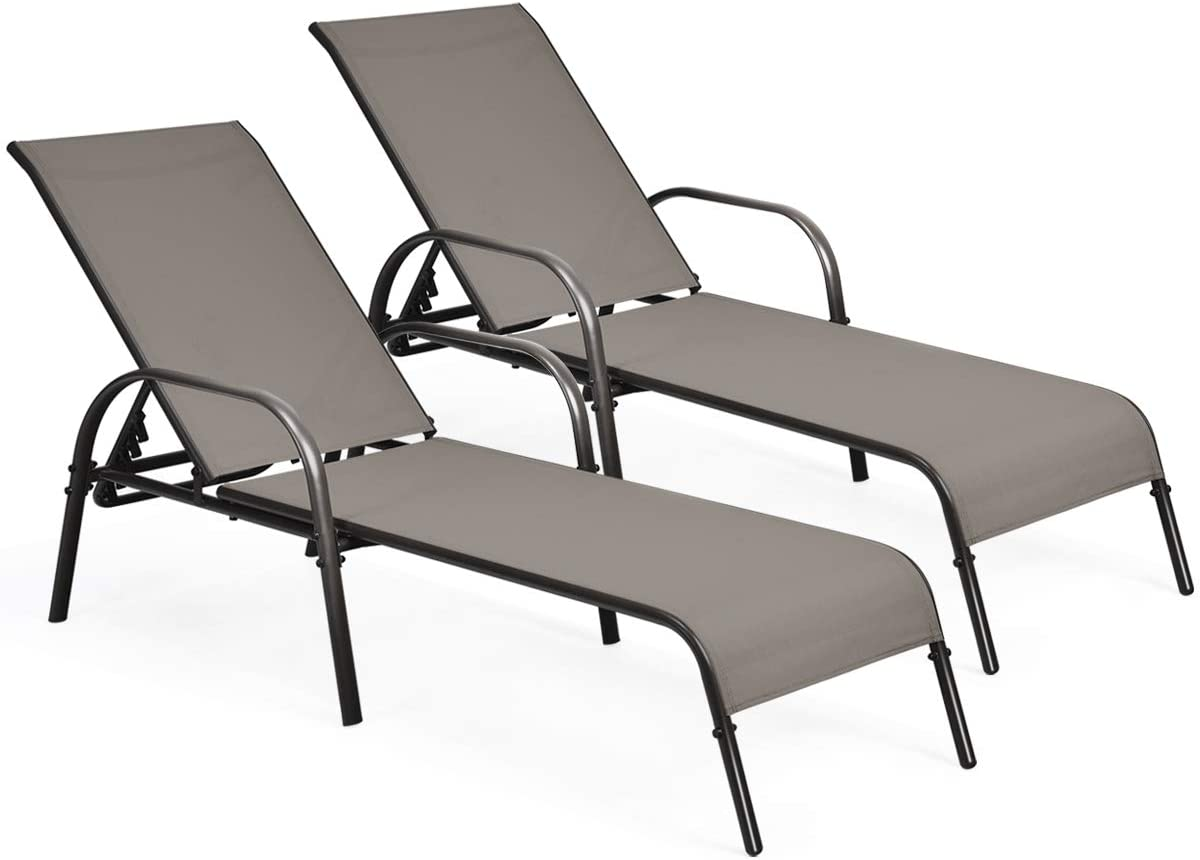Tangkula Beauty products Patio Chaise Lounge Recliner w A Lounger Chair Super special price Outdoor