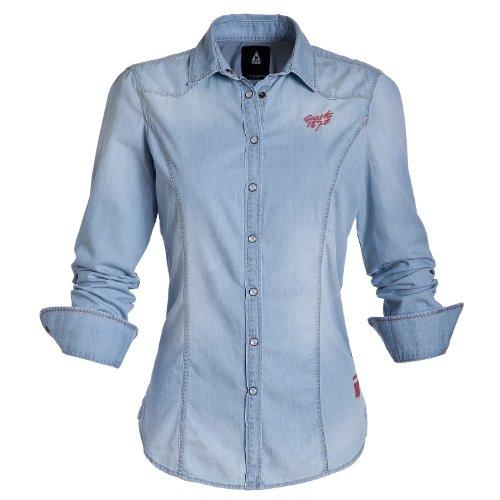 Gaastra Damen Bluse Blau Jeans Chili Gr. XS, blau