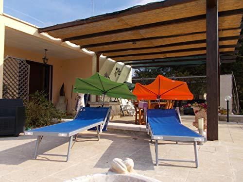 Hoogste uv-bescherming UVP 50 + gekleurde kroonluchter parasol met 360 ° houder voor bevestiging aan stoelen, bench, reclining railing, enz. tot 55-60 mm Ø- Made in Baden WÜRTTEMBERG First -