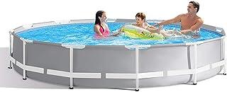 QQLK Frame Pool Redonda Piscina Desmontable Tubular 366 X 76 Cm- Piscina Sobresuelo(6503L)- Malla Compuesta De 3 Capas- Montaje RaPido- Piscina para NinOs Y Adultos