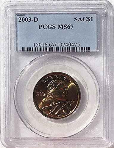 2003 D Sacagawea Dollar MS 67 Blue Label PCGS